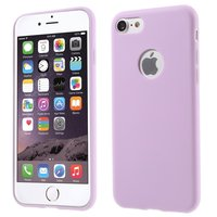 Silicone hoesje Paars iPhone 7 8 Effen paarse cover Purple case