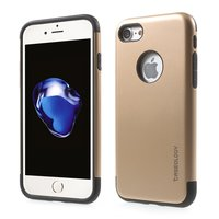 Caseology gouden hoesje iPhone 7 8 Golden TPU silicone case Zwarte cover