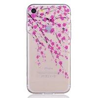 Bloesem hoesje doorzichtig iPhone 7 8 roze bloemen TPU case