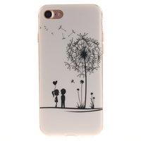 Blaasbloem silicone TPU hoesje iPhone 7 8 witte cover bloem