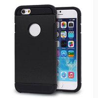 Zwart Shockproof hoesje iPhone 6 Plus 6s Plus Zeer stevige TPU case