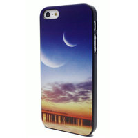 Sunset case iPhone 5, 5s en iPhone SE Zonsondergang met maan hoesje