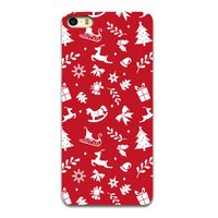 Kerst hoesje Christmas case iPhone 5 5s en SE TPU Rood Kerstmis cover Red