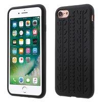 Autosporen hoesje iPhone 7 8 Zwart silicone Autoband cover