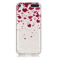 Beschermhoesje TPU iPod touch 5 en 6 hartjes doorzichtig