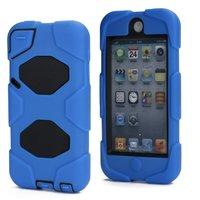Blauwe iPod Touch 5 6 survivor impact silicone hardcase beschermhoes