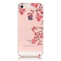 Bloesem TPU iPhone 5 5s SE hoesje cover - Doorzichtig - Bloemtakken - Bloemen