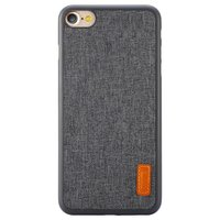 iPhone 7 Baseus hoesje TPU fabric grijze beschermhoes