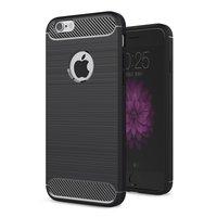 Carbon Armor beschermhoes hoesje iPhone 6 6s TPU - Zwart