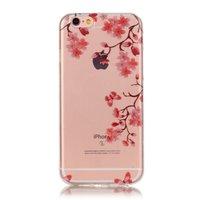 Bloesem TPU iPhone 6 6s hoesje zen cover - Doorzichtig - Bloemtakken