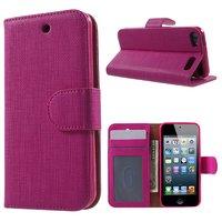 Roze wallet beschermhoes iPod Touch 5/6 leder TPU