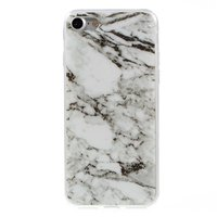 Marmer TPU hoesje iPhone 7 8 Witte case Marble hoesje cover