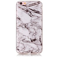 Marmer hoesje cover case iPhone 6 Plus 6s Plus silicone - Marble - Wit