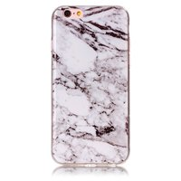 Marmer hoesje cover case iPhone 6 6s silicone - Marble - Wit