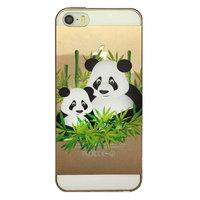iPhone 5 5s en SE tpu hoesje panda opdruk doorzichtig