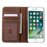 BoekBoek hoesje bruine wallet cover boek iPhone 7 kunstleer