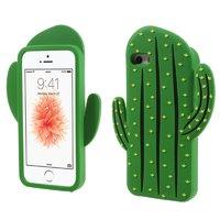 Groen 3D cactus hoesje silicone iPhone 5 5s en SE