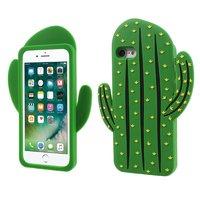 Silicone Cactus hoesje iPhone 7 en 8 3D groen
