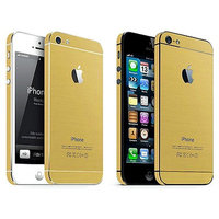 Bumper stickers Goud iPhone 5 5s SE Decor Gold Skin
