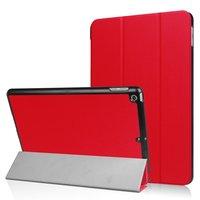 Rode Tri-Fold beschermhoes voor de iPad 2017 2018 case