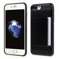 Zwarte pasjesklem hoesje voor de iPhone 7 Plus 8 Plus