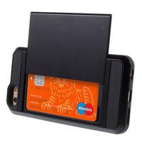 Secret Pasjeshouder hoesje iPhone 6 Plus 6s Plus hardcase - Portemonnee - Wallet - Zwart