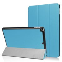 Tri-Fold case hoes voor iPad 2017 2018 - Lichtblauw