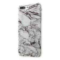 Wit marmer hoesje iPhone 7 Plus TPU