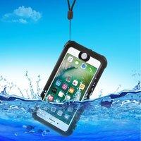 Waterproof iPhone 7 case IP68  zwart waterdicht hoesje