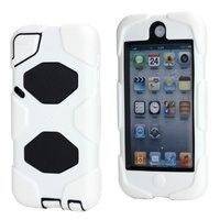 Witte hardcase voor de iPod Touch 5 en 6 hybrid survivor hoesje