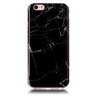 Zwart silicone TPU marmer hoesje iPhone 6 en 6s