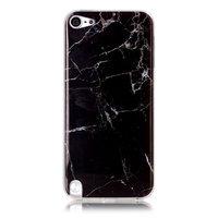 Zwart marmer iPod Touch 5 6 7 TPU hoesje marble case