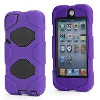 Paarse high impact beschermhoes iPod Touch 5 en 6 survivor