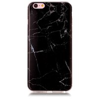 Zwart marmer hoesje iPhone 6 Plus 6s Plus TPU case