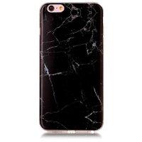 Zwart marmer hoesje iPhone 6 Plus en 6s Plus TPU case