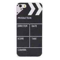 iPhone 5 5s en SE TPU hoesje filmklapper zwart