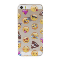 Transparant Emoji iPhone 5, 5s en SE TPU hoesje smiley cover