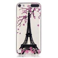 Parijs roze bloesem doorzichtig iPod Touch 5 6 TPU hoesje silicone