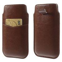 Lederen insteekhoesje bruin voor iPhone 6 6s 7 8 pouch