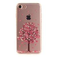 Doorzichtige roze bloesem boom iPhone 7 8 SE 2020 TPU hoesje case