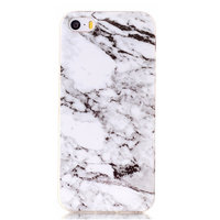 Wit marmer hoesje iPhone 5 5s SE Silicone TPU case marble cover