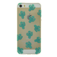 Transparant cactus iPhone 5, 5s en SE 2016 TPU hoesje cover