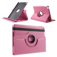 Roze lederen iPad mini 4 draaibare case hoes cover