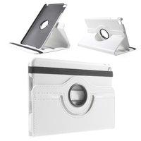 Witte lederen iPad mini 4 draaibare case hoes