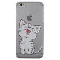 Doorzichtig katje hoesje TPU iPhone 6 6s cover