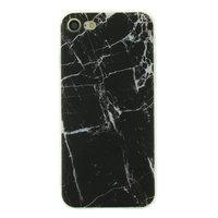 Marmer TPU hoesje case iPhone 7 8 - Marble - Zwart