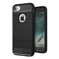 Zwart Carbon Armor iPhone 7 8 TPU hoesje