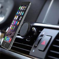 Universele Magneet telefoon auto houder ventilatierooster - iPhone - Samsung - Zwart