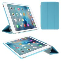 Blauwe trifold iPad mini 4 hardcase met cover hoes smartcase