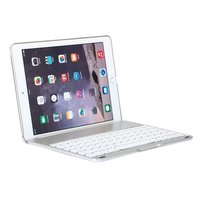 Witspad Bluetooth keyboard cover toetsenbord hoes case backlight iPad Air 2 - silver - QWERTY